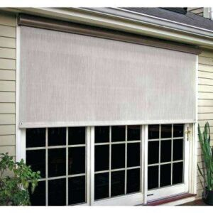 Outdoor Window Shade Installation