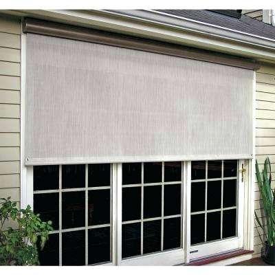 Outdoor Window Shade Installation