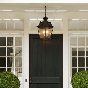 Exterior Hanging Light Installation