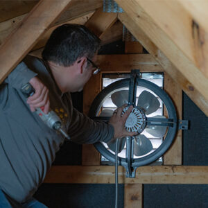 Attic/Whole House Fan Installation