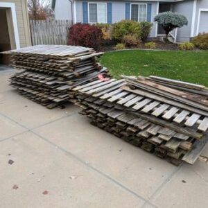 Remove & haul away of existing fence